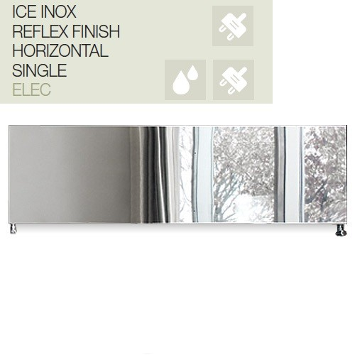 Caleido Ice Inox horizontal, Elektro Paneelheizkörper, Plattenheizkörper elektrisch