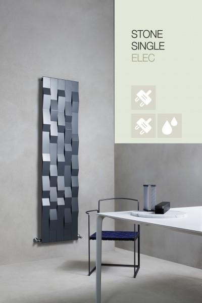 Caleido Stone Elektro Paneelheizkörper, Design Heizkörper, Heizwand by James Di Marco