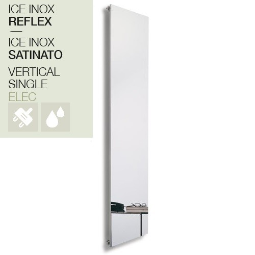Caleido Ice Inox Elektro Paneelheizkörper, Plattenheizkörper, Heizwand elektrisch, chrom/ satiniert