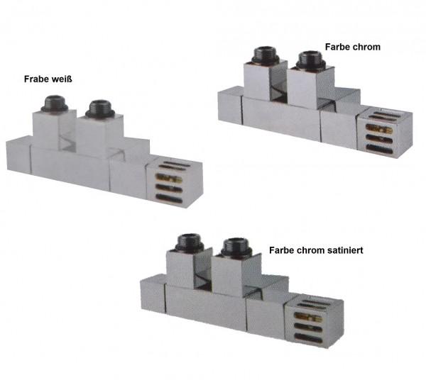 Caleido Design Multiblock Eckform, Anschlussset inkl. Thermostatkopf, 3 Farben