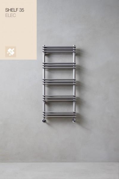 Caleido Shelf 35 Elektro Badheizkörper, Paneelheizkörper, Handtuchtrockner, 3 Größen & viele Farben