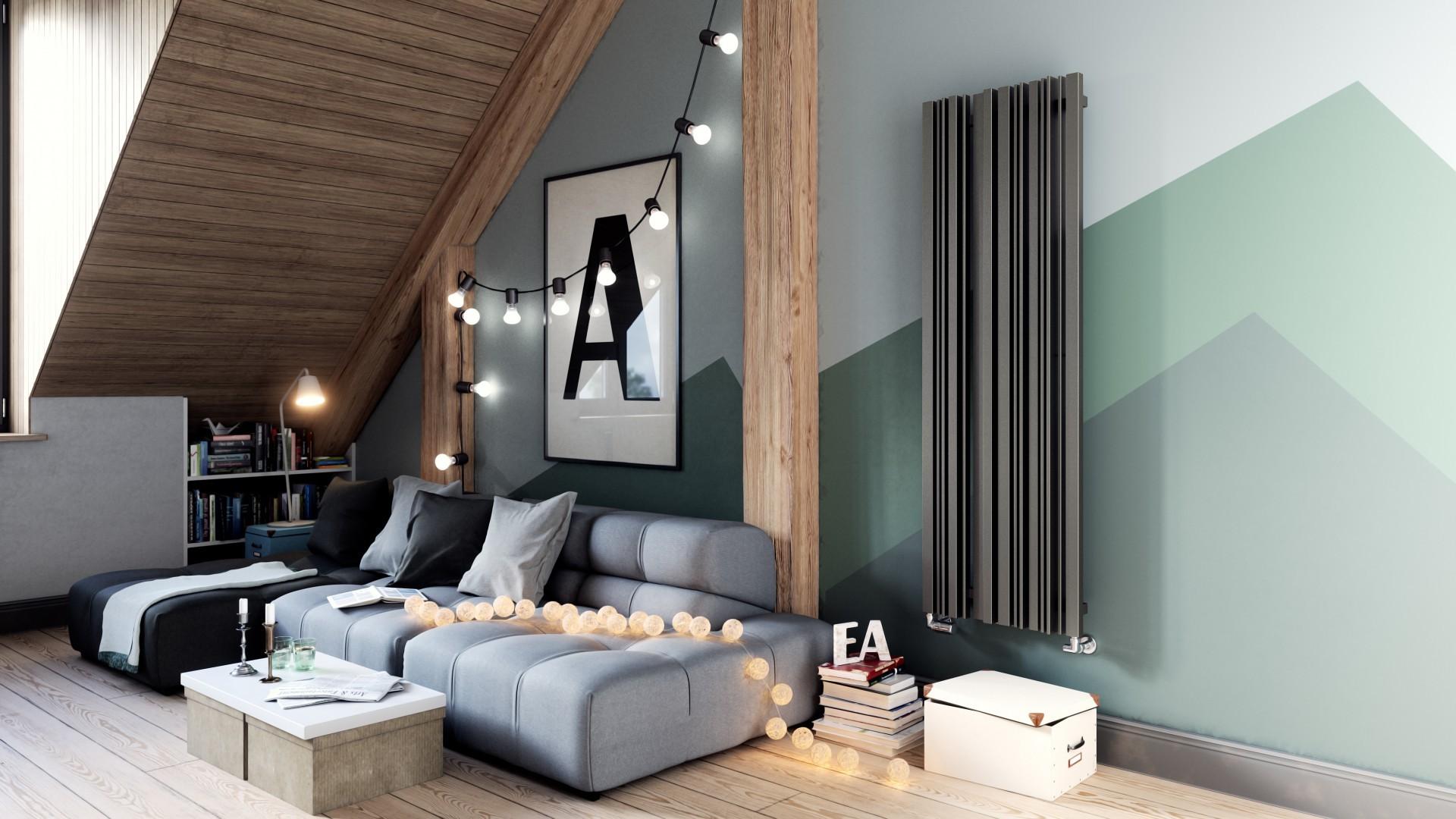 Design Röhrenheizkörper, Wohnraumheizkörper Terma Sherwood vertikal