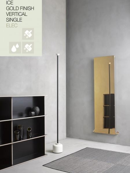 Caleido Ice Gold Finish Elektro Paneelheizkörper, Plattenheizkörper, Badheizkörper elektrisch