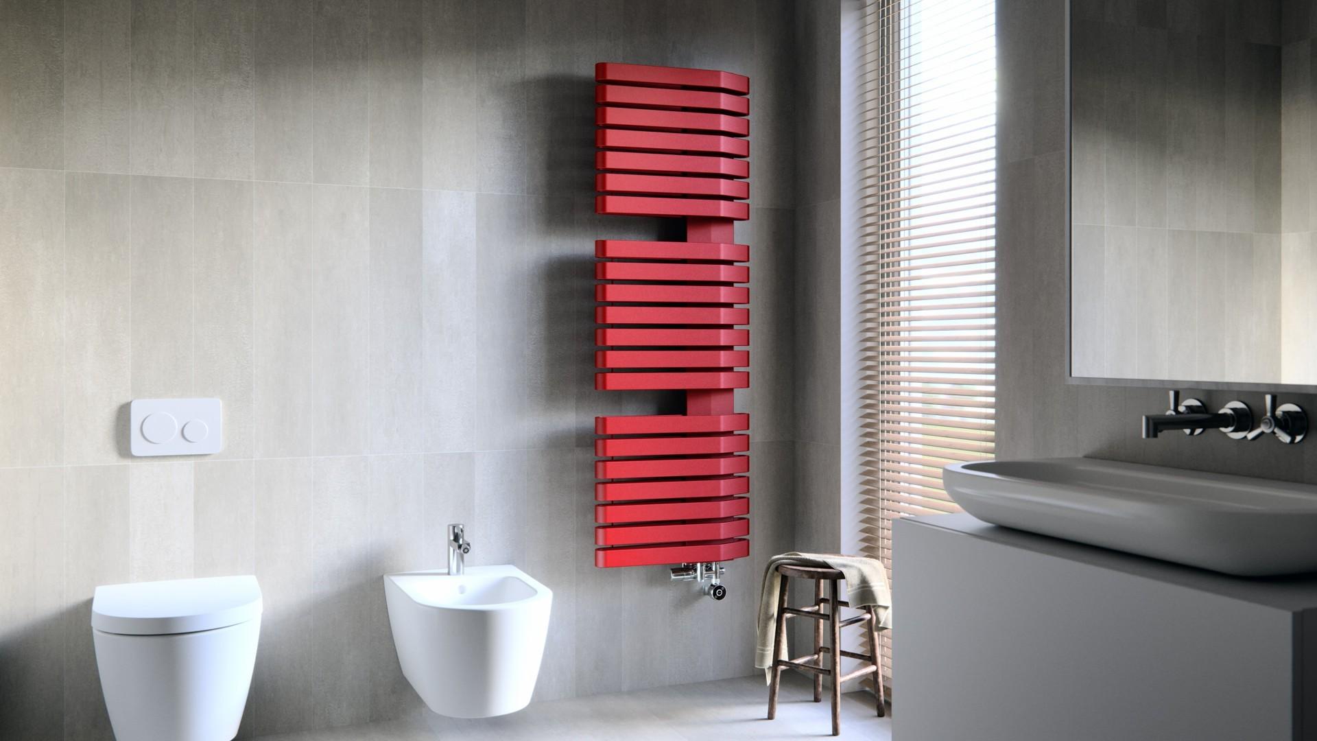 Moderner Badheizkörper, Design Handtuchtrcokner Terma Iron S