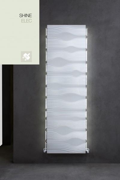 Caleido Shine LED Elektro Paneelheizkörper, Design Heizkörper, Heizwand by James Di Marco