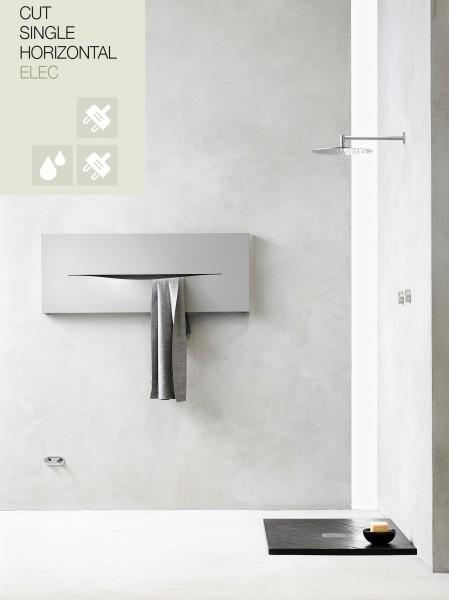Caleido Cut Elektro Paneelheizkörper horizontal, Handtuchtrockner, Badheizkörper elektrisch
