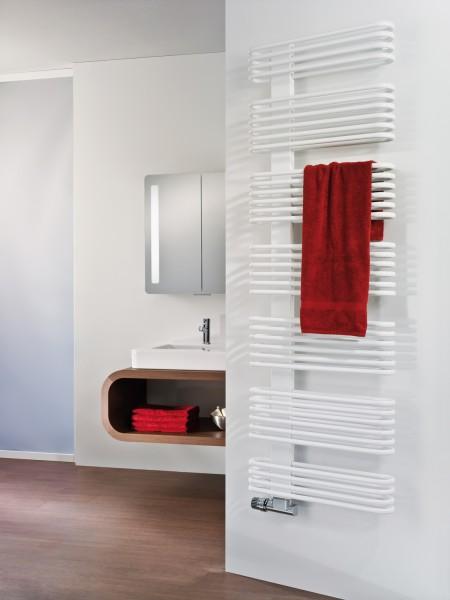HSK Premium Badheizkörper, Handtuchtrockner, Röhrenheizkörper, 4 Größen, viele Farben