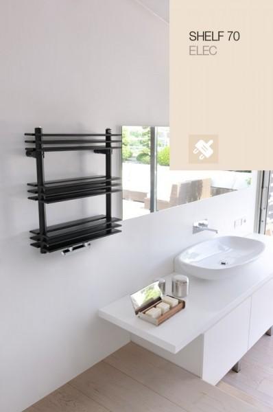 Caleido Shelf 70 Elektro Badheizkörper, Paneelheizkörper, Handtuchtrockner, 3 Größen & viele Farben