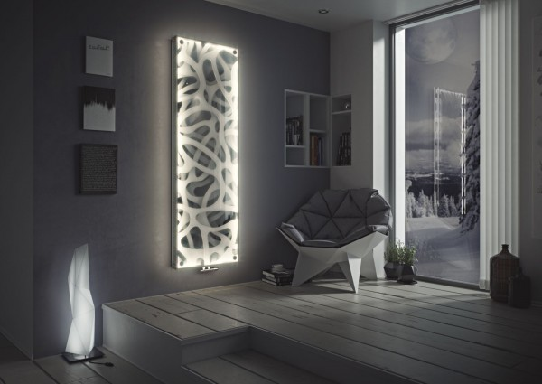 Corpotherma Paneelheizkörper, LED Heizkörper, Glas mit Wunschbild Panio Crystal, 6 Größen, Bilder