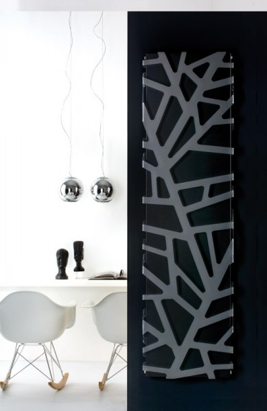 Caleido Flora Paneelheizkörper, Design Heizkörper, Plattenheizkörper mit Acrylmuster