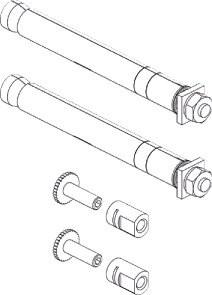 Buderus Rohwandadapterset für FMS/FEX Befestigungen für Ventil und Kompaktheizkörper