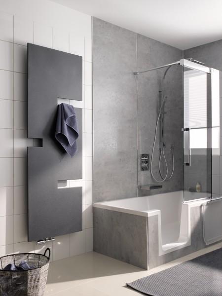 HSK Juke Badheizkörper, Plattenheizkörper, Handtuchtrockner, 2 Größen, viele Farben