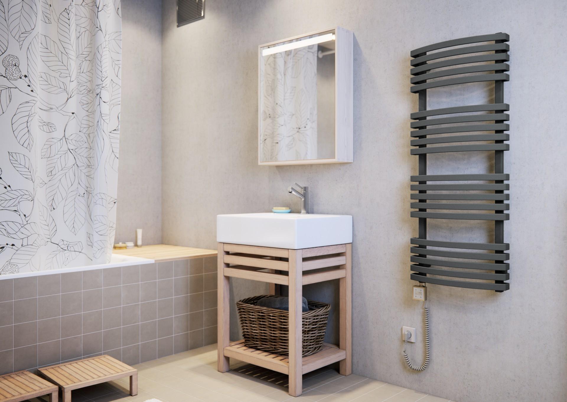 Badheizkörper gebogen, Handtuchtrockner eckig Terma Mantis modern