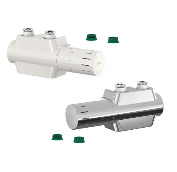 Simplex Multiblock Variodesign, Eck- und Durchgangsform für Einrohrsystem inkl. Thermostatkopf