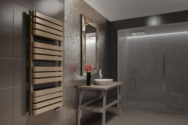 Moderner Badheizkörper, Design Handtuchtrcokner Terma Wind