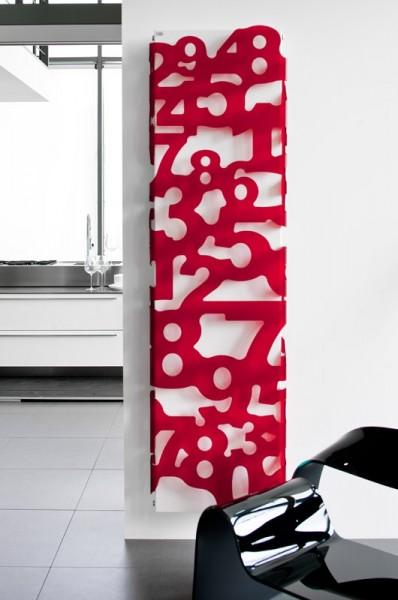Caleido Digit Paneelheizkörper, Design Heizkörper, Plattenheizkörper mit Acrylmuster