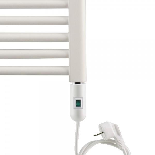 Corpotherma Heizstab Heizpatrone elektrisch mit Stecker mit Schalter Typ 2, Farbe weiß