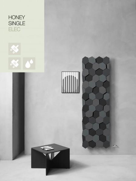 Caleido Honey Elektro Paneelheizkörper, Design Heizkörper, Heizwand by James Di Marco
