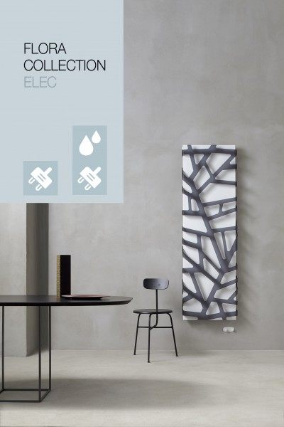 Caleido Flora Elektro Paneelheizkörper, Design Heizkörper, Plattenheizkörper elektrisch, Acrylmuster
