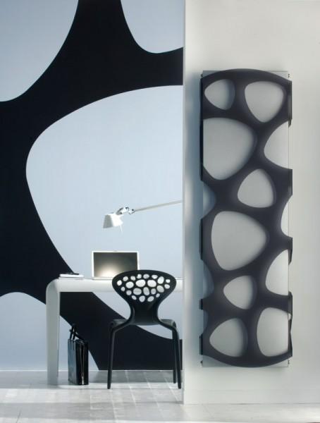 Caleido Rain Paneelheizkörper, Design Heizkörper, Plattenheizkörper mit Acrylmuster