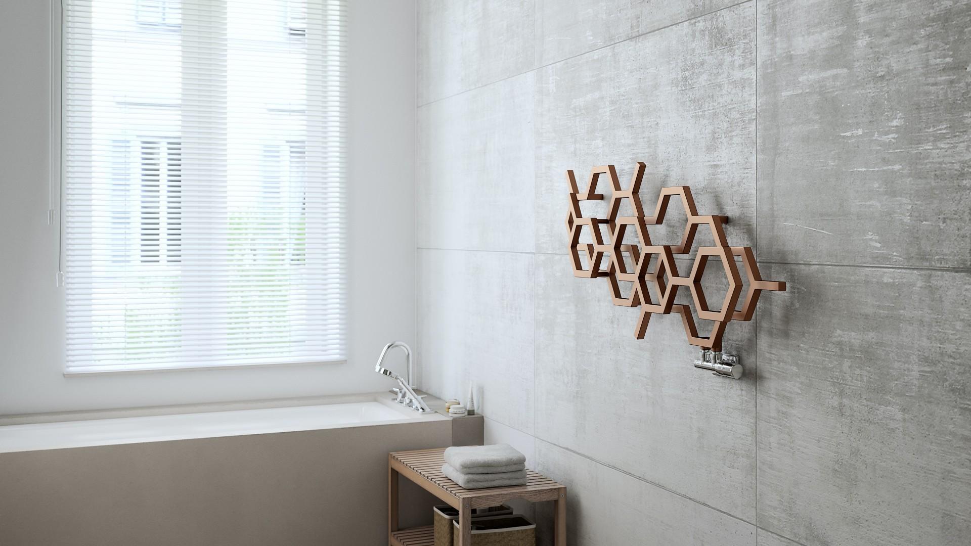 Moderner Badheizkörper, Design Heizkörper, Handtuchtrcokner Terma Hex