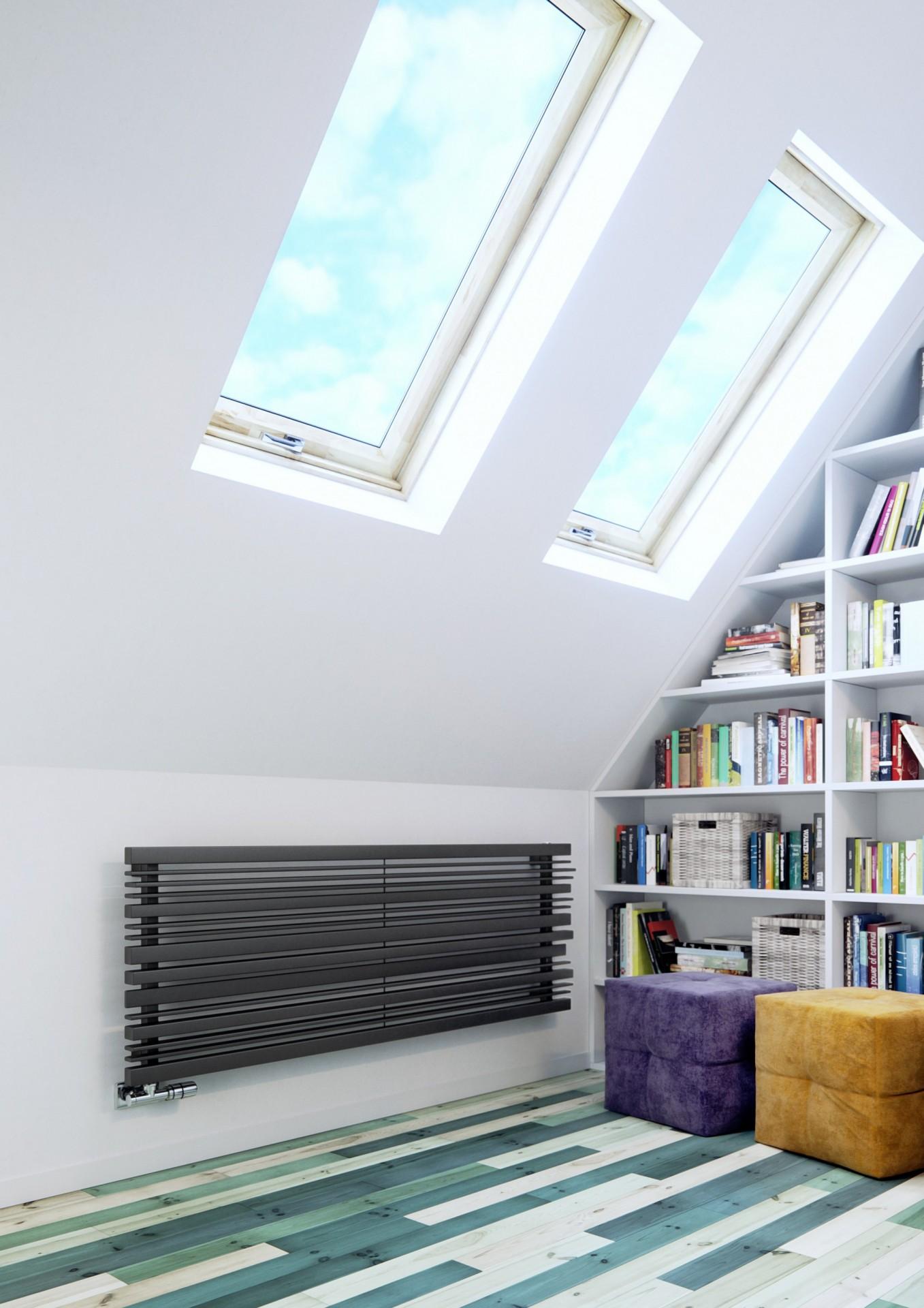 Design Röhrenheizkörper, Wohnraumheizkörper Terma Sherwood horizontal